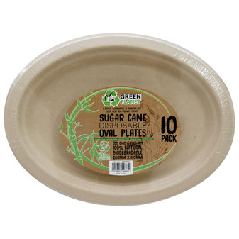 ECO Sugar Cane Disposable Plates PK 10 | Prices Plus