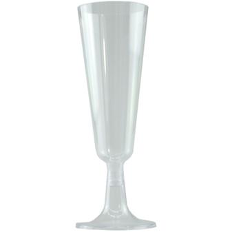Clear Plastic Champagne Glasses 4PK | Prices Plus