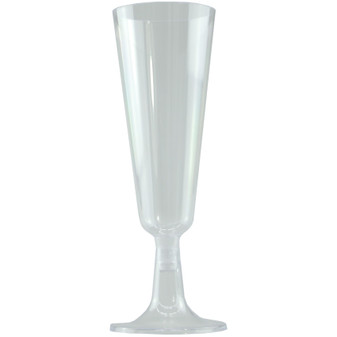 Clear Plastic Champagne Glasses 4PK | Prices Plus