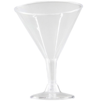 Clear Plastic Cocktail Glasses 4PK | Prices Plus