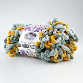 Cast On Finger Knitting Loop Yarn 180 gram Grey / Tan - 10 pack | Prices Plus