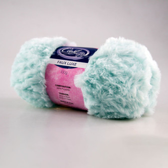 Cast On Faux Fur Knitting Yarn 100 gram Baby Blue - 10 pack | Prices Plus