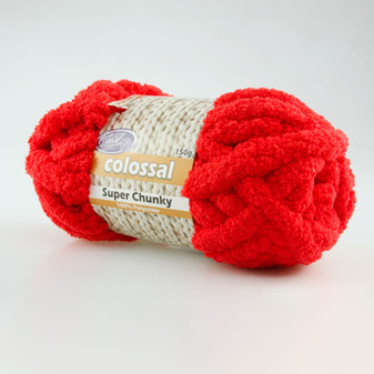 Cast On Super Chunky Knitting Yarn 150 gram Red - 10 pack | Prices Plus