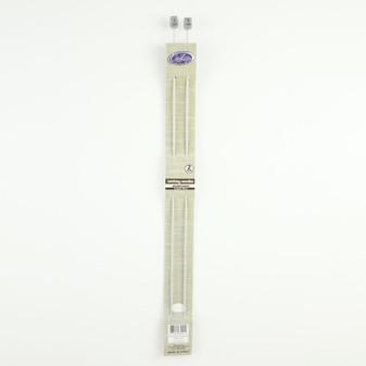 Cast On Aluminium Knitting Needles 35cm - 2.0mm | Prices Plus