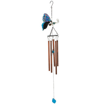 Butterfly Metal / Glass Windchime | Prices Plus