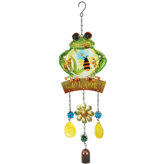 Welcome Frog  Windchime | Prices Plus