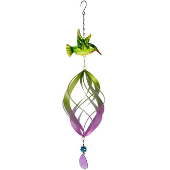 Bird With Spinner Windchime | Prices Plus