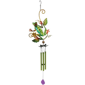 Frog and Leaves Windchime | Prices Plus