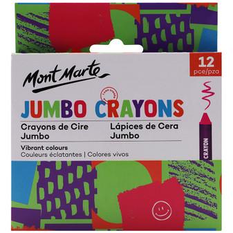 Mont Marte Jumbo Crayons 12PK|Prices Plus