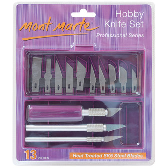 Mont Marte Hobby Knife Set SK5 Steel Blades 13PK | Prices Plus