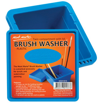 Mont Marte Twin Compartment Brush Washer | Prices Plus