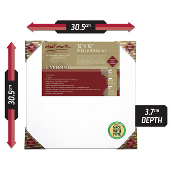 Mont Marte Double Thick Canvas 30.5x30.5cm | Prices Plus
