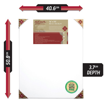 Mont Marte Double Thick Canvas 40.6 x 50.8cm | Prices Plus