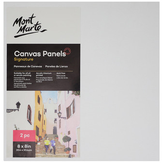 Mont Marte 2PK Signature Canvas Panels 20.4 x 20.4cm | Prices Plus