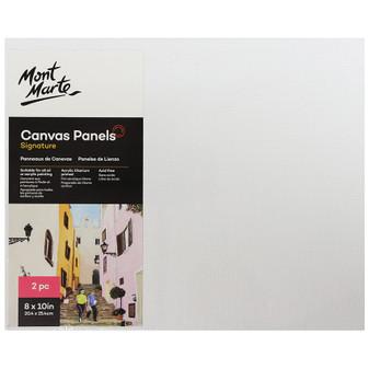 Mont Marte 2PK Signature Canvas Panels 20.3 x 25.4cm | Prices Plus