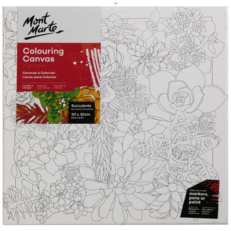 Mont Marte Adult Colouring Canvas 30 x 30cm | Prices Plus