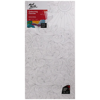 Mont Marte Adult Colouring Canvas 30 x 60cm | Prices Plus