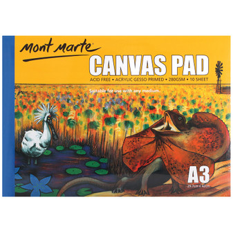 Mont Marte Canvas Pad 10 Sheet A3 | Prices Plus