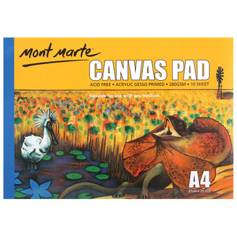 Mont Marte Canvas Pad 10 Sheet A4 | Prices Plus