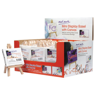 Mont Marte Mini Display Easel With Canvas 8 x 10cm | Prices Plus