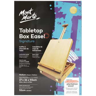 Mont Marte Tabletop Box Easel Medium - Beech | Prices Plus