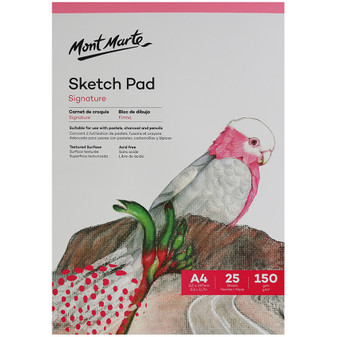Mont Marte Signature Sketch Pad 150gsm 25 sheet A4 | Prices Plus
