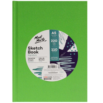 Mont Marte Hard Cover Sketch Book 110gsm 220 Pages A5   Prices Plus