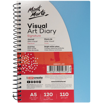 Mont Marte Colour Cover Visual Art Diary A5 | Prices Plus