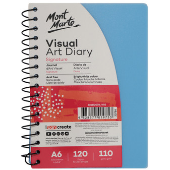 Mont Marte Coloured Cover Visual Art Diary A6   Prices Plus