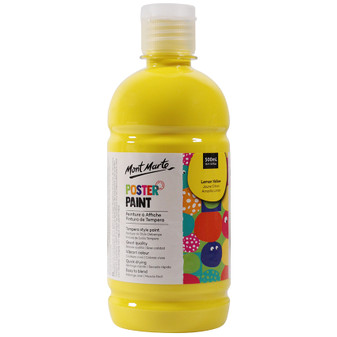 Mont Marte Kids Poster Paint 500ml Yellow | Prices Plus
