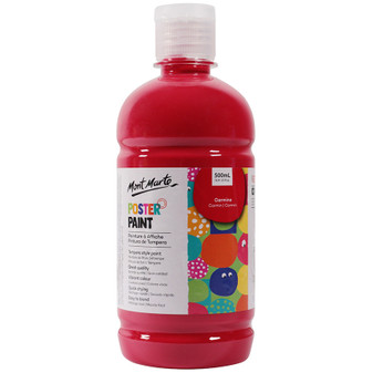 Mont Marte Kids Poster Paint 500ml Red | Prices Plus