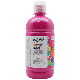 Mont Marte Kids Poster Paint 500ml Pink | Prices Plus