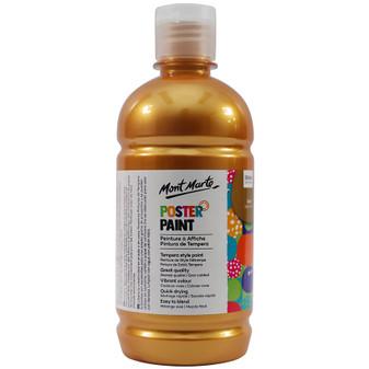 Mont Marte Kids Poster Paint 500ml Gold|Prices Plus