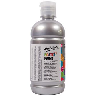 Mont Marte Kids Poster Paint 500ml Silver | Prices Plus