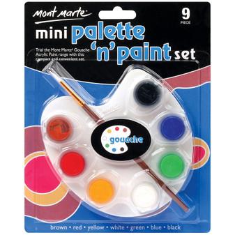 Mont Marte Mini Palette and Gouache Paint Set | Prices Plus