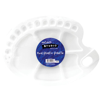 Mont Marte Oval Plastic Palette 34x25cm | Prices Plus
