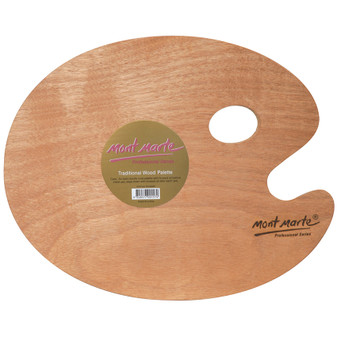Mont Marte Oval Wood Palette 30x38cm | Prices Plus