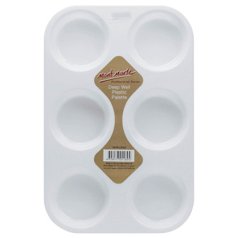 Mont Marte Deep 6 Well Plastic Palette | Prices Plus