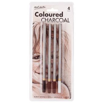 Mont Marte Coloured Charcoal Pencils 4pce | Prices Plus