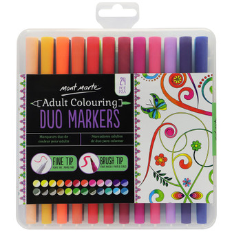Mont Marte Adult Colouring Duo Markers 24pce|Prices Plus