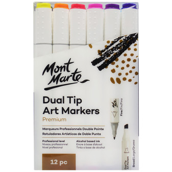 Mont Marte Art Dual Tip Markers 12pce|Prices Plus