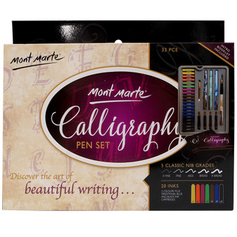 Mont Marte Calligraphy Set 33pce|Prices Plus