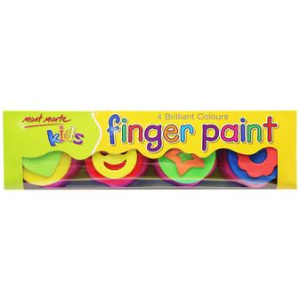 Mont Marte Kids Colourd Finger Paints with Stamp Prices Plus