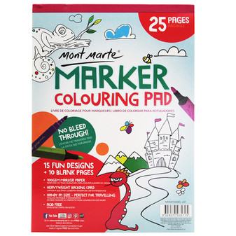 Mont Marte Marker Colouring Pad 25 Pages A4