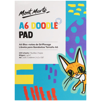 Mont Marte Kids Doodle Pad 100 Sheets A6 |Prices Plus