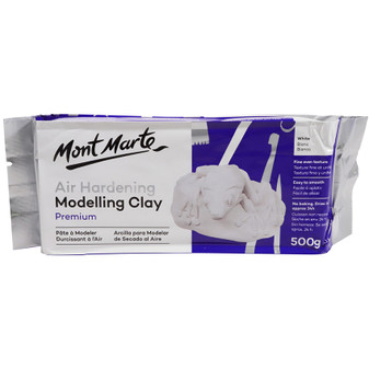 Mont Marte Air Drying Modelling Clay 500g White