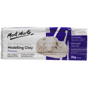 Mont Marte Air Drying Modelling Clay White 2kgs Prices Plus
