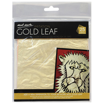 Mont Marte Imitation Gold Leaf 14x14cm 25 Sheet|Prices Plus