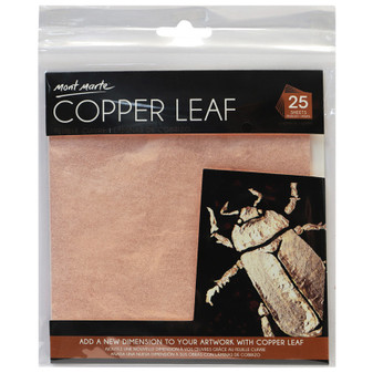 Mont Marte Copper Leaf 14x14cm 25 Sheet