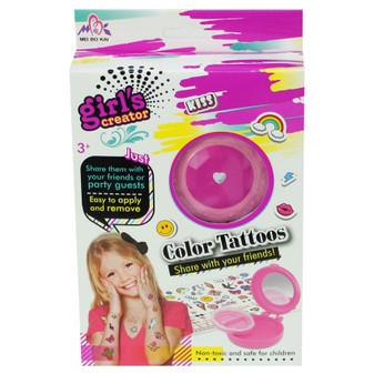 Girl's Creator Coloured Tattoos Set | Prices Plus